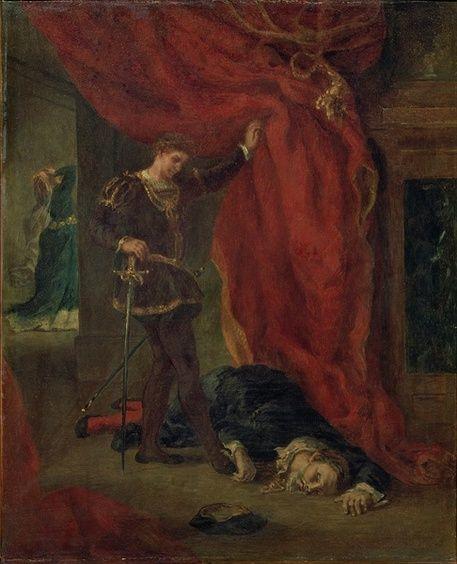 'Hamlet vor der Leiche des Polonius' by Ferdinand Victor Eugèn
