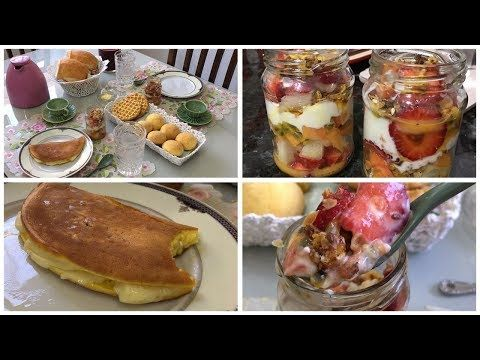 Café da manhã de sábado | Salada de fruta diferente | Pão de queijo de frigideira e mto amor! - YouTube