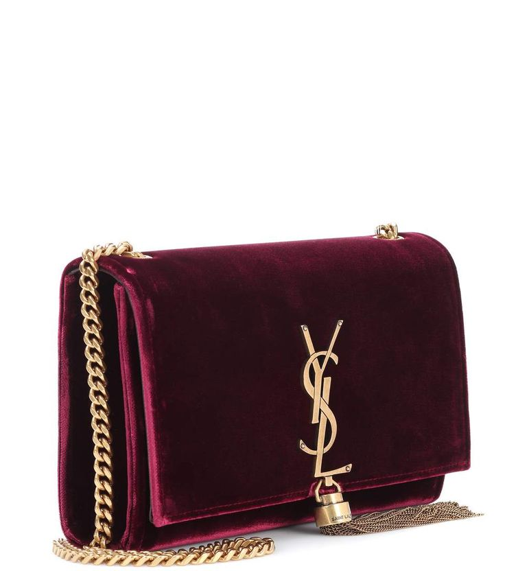 Small Kate Monogram burgundy velvet shoulder bag 1450€