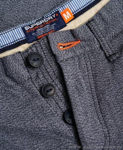 Superdry Pantalones Gris International Chino Grindle - Haga click en la imagen para cerrar