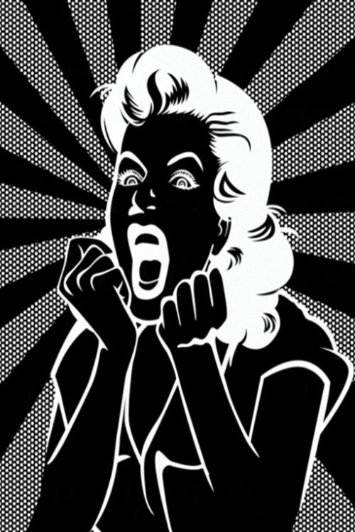 You may say I'm a Screamer, but I'm not the only one...black and white pop art.
