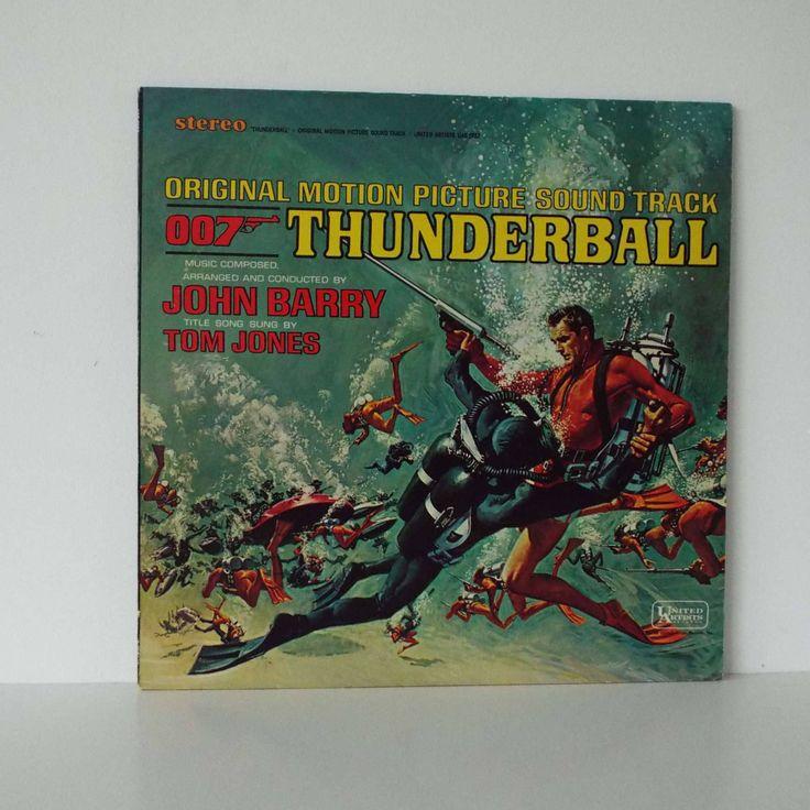 Vintage 1965 Thunderball Film Movie Sound Track LP Vinyl Record US Pressing 007 James Bond Tom Jones John Barry by VintageBlackCatz on Etsy