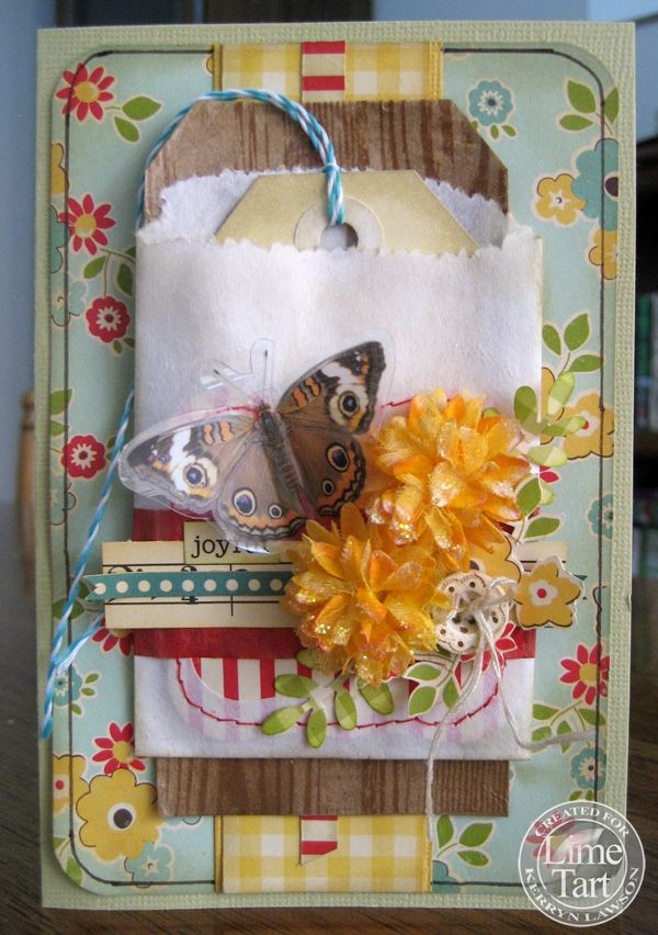Love the pocket and the fun accents. (Lime Tart)Carts Scrapbook
