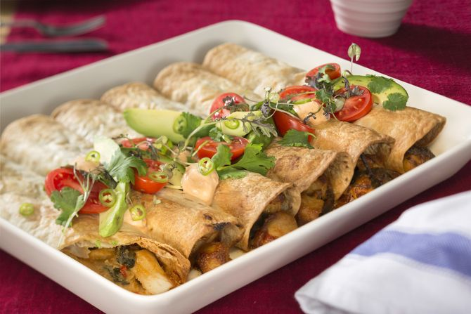 Kanaenchiladat eli tortillalasagne