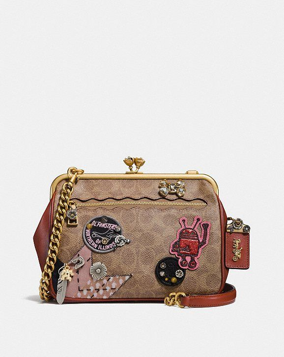 Coach x keith haring kisslock crossbody in signature patchwork in 2019  aa1ad23dff7a7