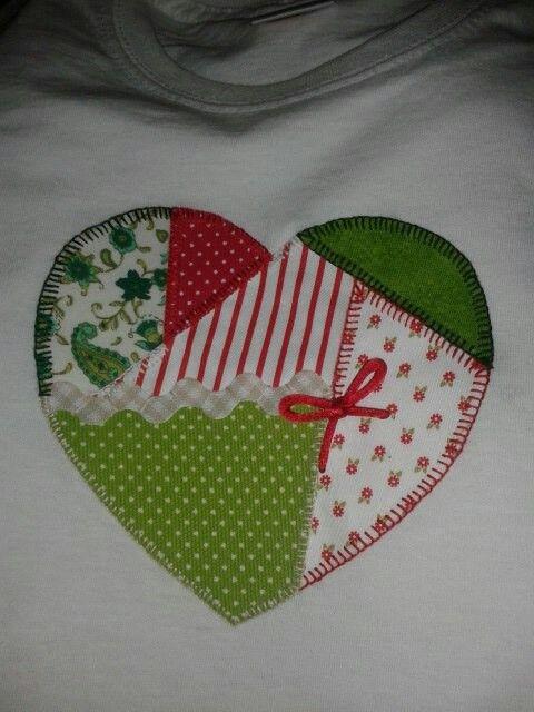 """Camiseta patchwork """"corazon mio"""""""