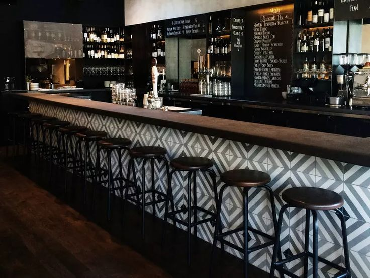 At this popular Spanish tavern on Main Street, brushed grey walls, geometric tile, and gleaming wood-topped stools provide a stylish backdrop for the chalkboard menu of pintxos (small bites popular in Northern Spain).