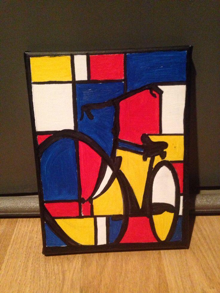 Mini art canvas awesome project ideas bike