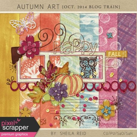 Autumn Art October 2014 Blog Train Mini Kit