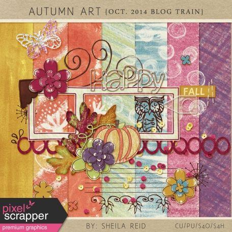 Autumn Art October 2014 Blog Train Mini Kit