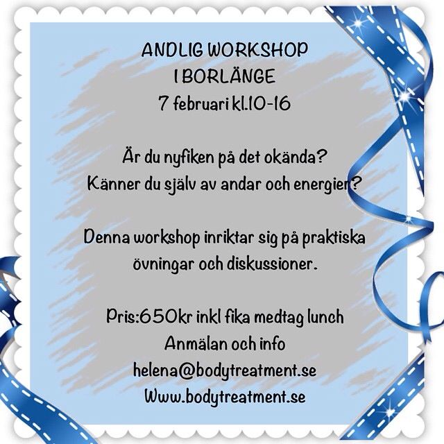 Andlig workshop i Borlänge.  Psychic och mediumistiska övningar Meditation  Färg och form Sprirtualism 7 principer Etik och moral i de mediala