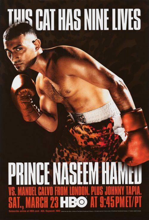 """CAST: Prince Naseem Hamed, Manuel Calvo; Features: - 11"""" x 17"""" - Packaged with care - ships in sturdy reinforced packing material - Made in the USA SHIPS IN 1-3 DAYS"""