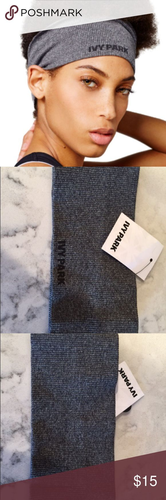 """Ivy Park Seamless Wide Headband A wide headband in a ribbed knit with no seams keeps your hair comfortably out of the way while you train. 4"""" width. Heat-set logo. 93% polyamide, 7% elastane. Machine wash cold, dry flat. By IVY PARK; imported. NWT 🚫Trades Please Ivy Park Accessories Hair Accessories"""