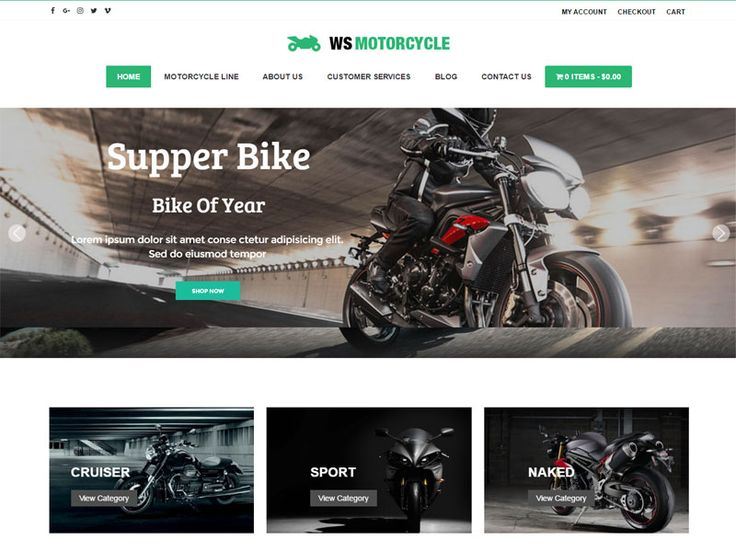 download free ws motorcycle wordpress theme best free. Black Bedroom Furniture Sets. Home Design Ideas