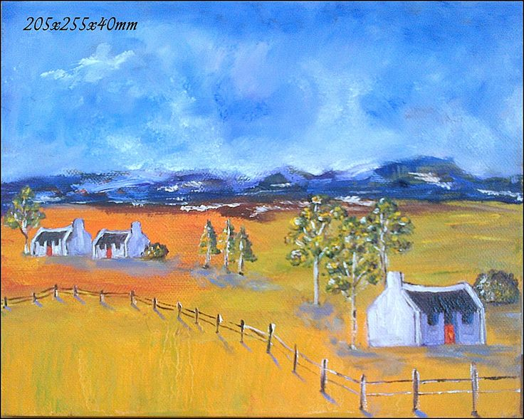 77	Namaqualand Four Landscape 	Oil Painting 	Stretched Canvas 400x300x40mm