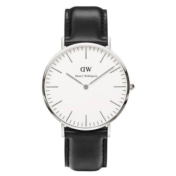 Daniel Wellington Men's Classic Sheffield Silver Watch - Black found on Polyvore
