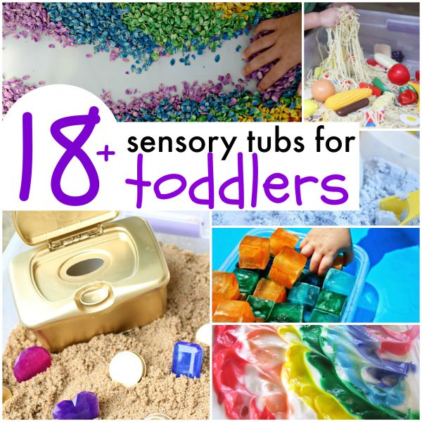 18+ Sensory Tubs for Toddlers