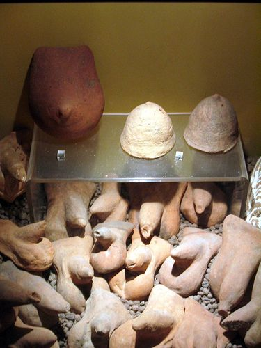 Erotic pottery from Pompeii. (More Phallus obsession)