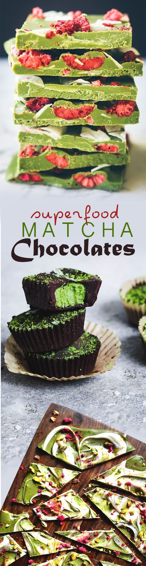 These Matcha chocolates are refreshingly sweet, earthy, nutty, and creamy! Top with your favorite toppings and superfoods for added antioxidants! #love #matcha #macha #抹茶 #お茶 #matchatea #matchalatte #matchalover #matchalovers #matchagreentea #matchaholic