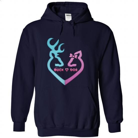 Buck and Doe - #purple hoodie #funny t shirts for women. GET YOURS => https://www.sunfrog.com/LifeStyle/Buck-and-Doe-NavyBlue-84166493-Hoodie.html?60505