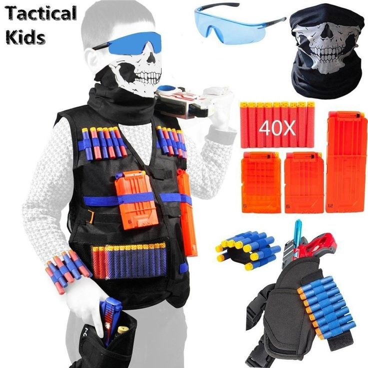 Nerf Tactical Vest Kit for Guns boys N-Strike Elite Series Dart Soft Darts Toys  #NERF
