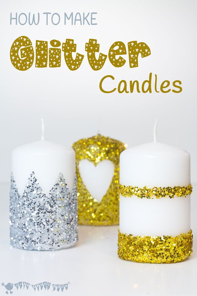 HOW TO MAKE GLITTER CANDLES - DIY glitter candles are an easy kid craft or grown up craft. They look so pretty and are super homemade gifts too.