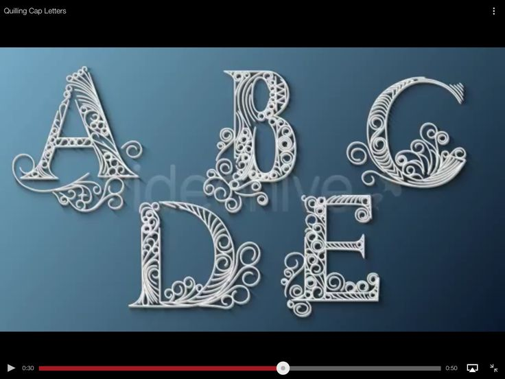 lettres quilling
