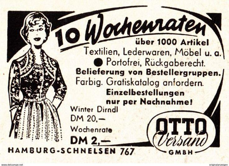 Werbung - Original-Werbung/ Anzeige 1955 - OTTO VERSAND - HAMBURG - ca. 55 x 40 mm