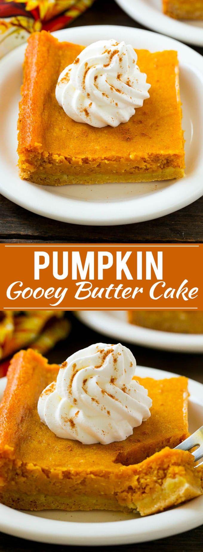 Pumpkin Gooey Butter Cake Recipe | Pumpkin Cake Recipe | Gooey Butter Cake | Pumpkin Dessert | Thanksgiving Dessert