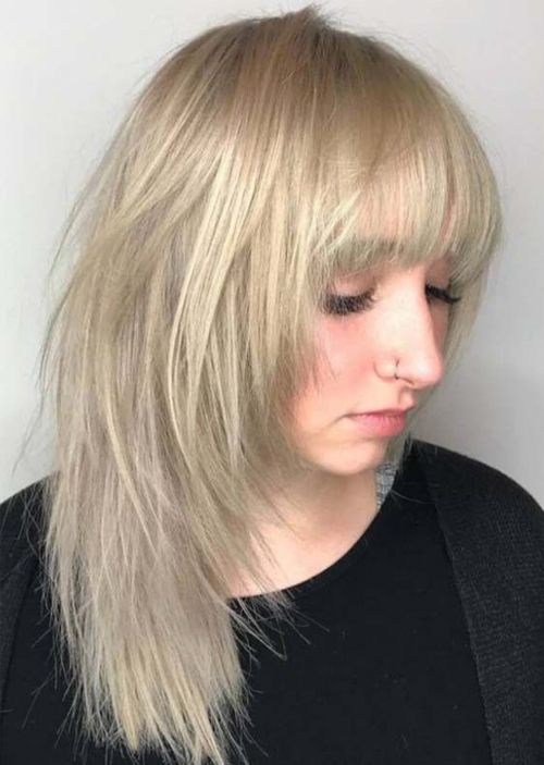 14 Asymmetric Medium Blonde Hairstyles 2019 With Bangs And Fringes