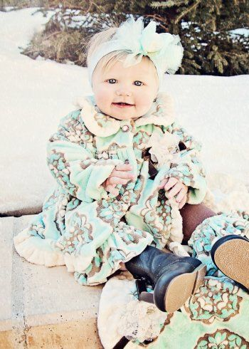 Girls Winter Coat 2012Breakfast with Tiffany Winter CoatThis Fabric is so Soft & Warm!!12 Months to 6 YearsNow in Stock!