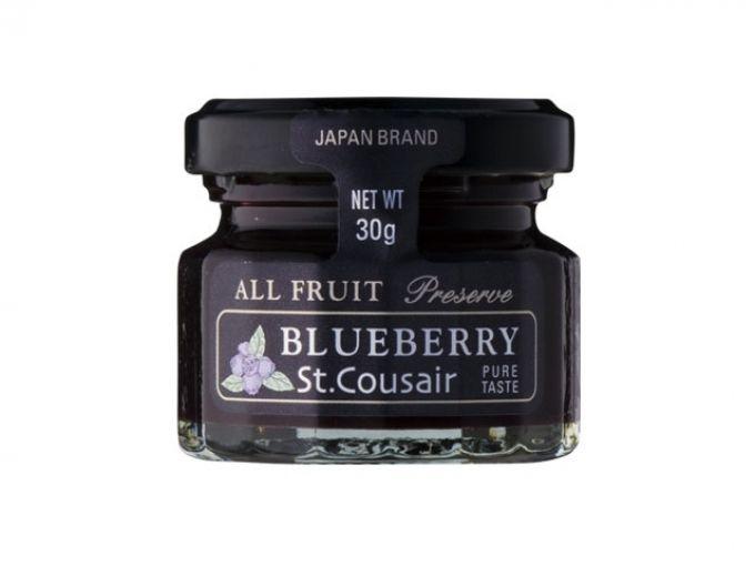 瓶詰めになっていて見かけも愛らしいジャムは、プチギフトの隠れ定番アイテムのひとつ。そんなスタンダードな品こそ、こだわりたいのは味を決める材料。「サンクゼール」のオールフルーツジャムは、名前の通り砂糖の代わりに果汁で甘さを調整することで、素材本来の良さを持ち帰りやすいプチサイズの瓶に凝縮。本物志向のふたりも納得のシックなビジュアルもおすすめ。    (写真1)オールフルーツジャム ブルーベリ...