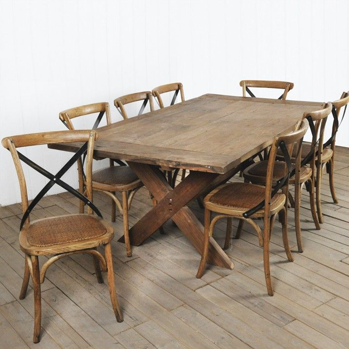 Refectory Dining Table - Handcrafted from Old natural elm. this tradition table evokes memories of dining in communal meal room of old boarding schools