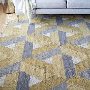 Matrix Wool Kilim Rug Horseradish Westelm Warmth In The Can Give Illusion Of Sunlight On Floor Bay Area Collaboration Pinterest