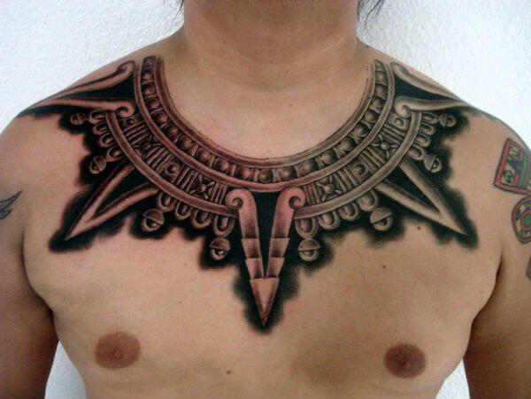 Motivo alusivo a Huhuetéotl, dios del fuego / Imagen: tattoosbygoethe