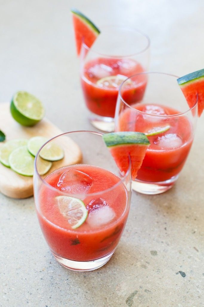 Watermelon lime mint agua fresca limes food and yummy for Champagne drinks with fruit