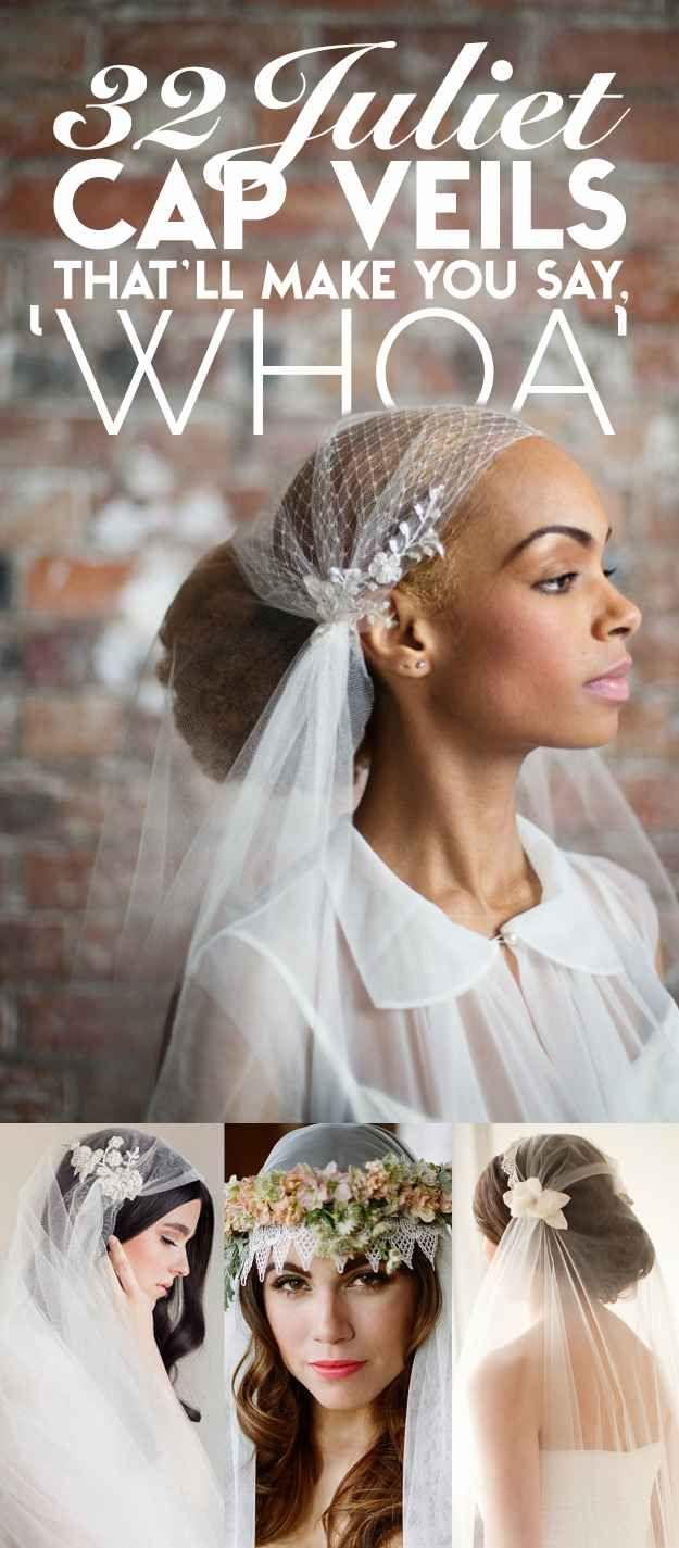 32 Juliet Cap Wedding Veils That'll Make You Say, 'Whoa' (bit different)