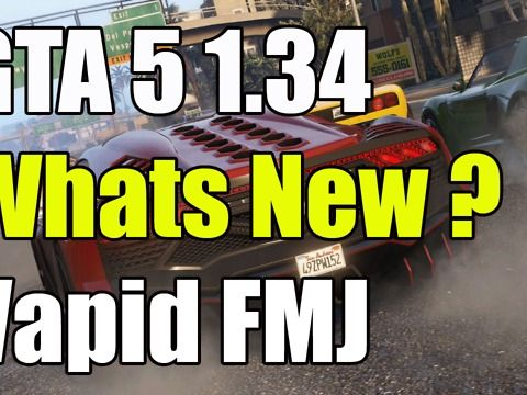 GTA 5 Online 1.34 Whats New Plus Vapid FMJ the new GTA 5 online update 1.34 is now live and there is a lot of new stuff and this is just a quick update guide showing that you can now buy a cargobob and businesses the GTA 5 online 1.34 update is out now <br />Grand Theft Auto 5, also known as GTA 5 or GTA V, is an action-adventure video game developed by Rockstar North and published by Rockstar Games. The game is composed of elements from driving and action-adventure games, and features open…
