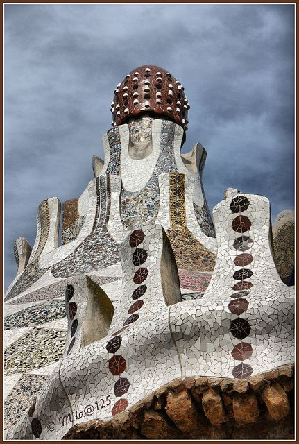 Donde tuve la suerte de poder crecer!! Park Guell. Barcelona, Spain. 1900-14. Antoni Gaudi.