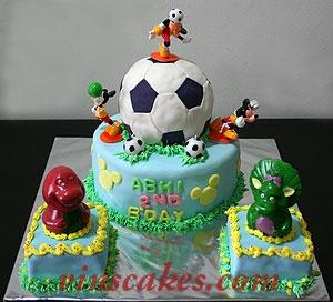 Soccer Ball Happy Birthday Roberto Cake