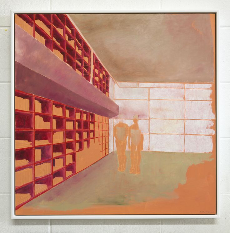 Kate Small, Fraser Park, 2014, Oil on board, 700 x 700mm (Framed). From the exhibition, Field (13 September - 4 October 2014)