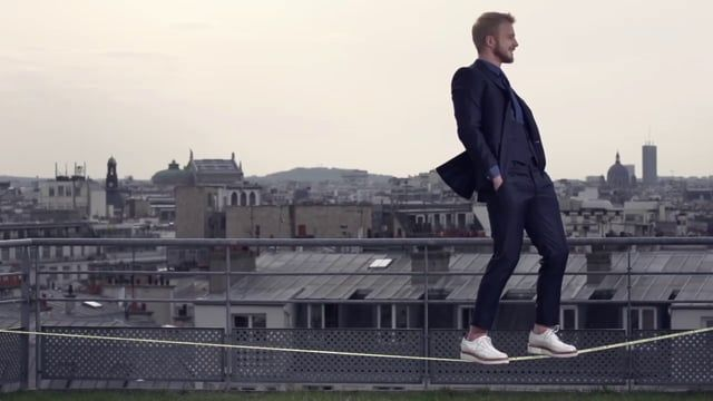 LES DANDYS - French Made to Measure Brand /  Behind the shoot : Spring Summer 2014 /  Slackline Model : Maciej Borucz /   Director : Ben Massiot /  Production : O Cédille Agency /  lesdandys.com