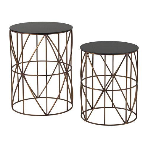 Bradfield-Set Of 2 Drum Side Tables - 137-023/S2