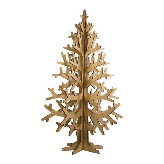 xmas tree - natural cardboard christmas tree