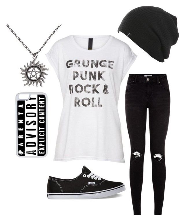 """Grunge, Punk, Rock N' Roll"" by nutelligence ❤ liked on Polyvore featuring Vans and CellPowerCases"