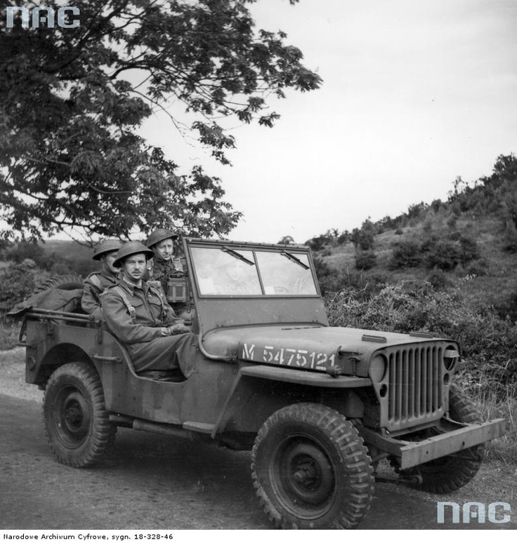 Jeep of Polish Army, Scaraborough, 1944.