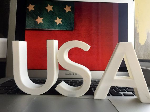 USA Sign Letters Typography Lettering Stand Font Type by tomeksz