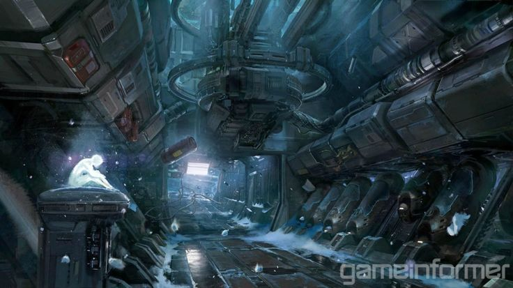 Halo 4 concept art lost in space spaceship interior for 11547 sunshine terrace