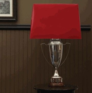 Trophy Cup Lamp Base with Harp and Finial by Two's Company® traditional-lamp-bases $249.00!
