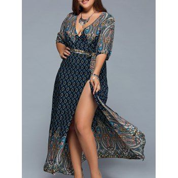 SHARE & Get it FREE | Oversized Plunge Neck Bandanna Print Bohemian Wrap Maxi DressFor Fashion Lovers only:80,000+ Items·FREE SHIPPING Join Dresslily: Get YOUR $50 NOW!